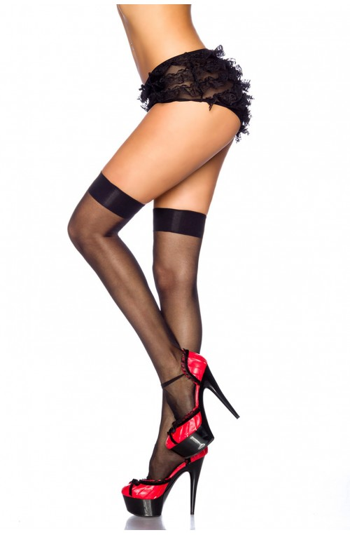 FEINE BASIC STOCKINGS - SCHWARZ