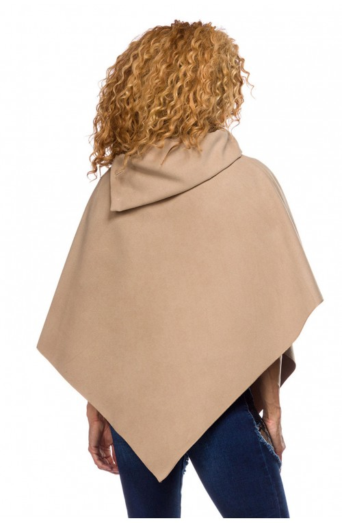 ELEGANTER HERBST / WINTER PONCHO - BEIGE
