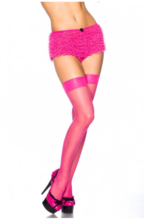 FEINE BASIC STOCKINGS - NEONPINK