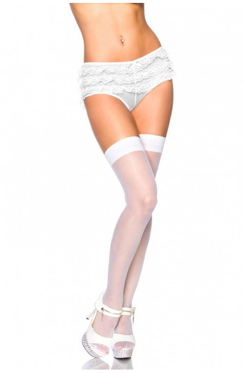 FEINE BASIC STOCKINGS - WEISS