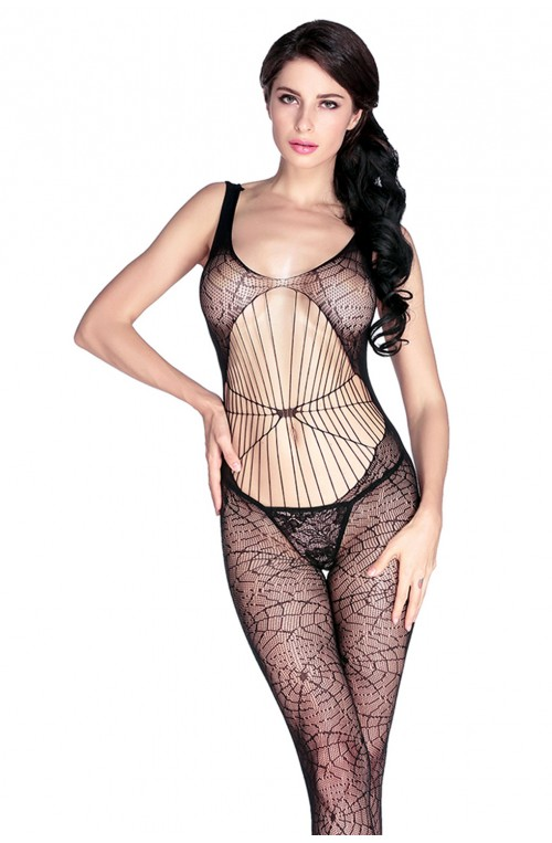SPINNENNETZ BODYSTOCKING - SCHWARZ