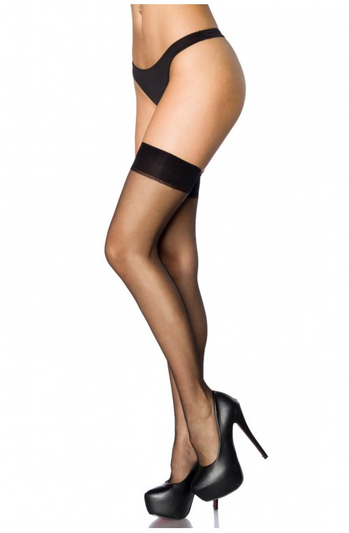 STOCKINGS MIT NAHT - SCHWARZ