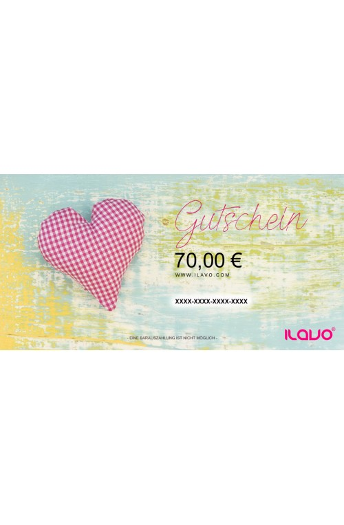70 € GESCHENKGUTSCHEIN